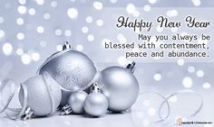 May you always be blessed with contentment, peace and abundance. Happy New Year..