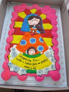 Virgencita plis - cake no 2 for the quinceañera