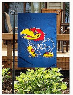 Evergreen Enterprises Kasnas Jayhawks Applique Garden Flag by Evergreen. $6.95. Decorate your yard with collegiate pride! The Evergreen Enterprises NCAA® appliqué Artistic Blends garden flag features double-sided team graphics, and it's finished with a UV-resistant coating to reduce fading.. Save 42%!