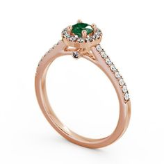 You can never go wrong with a rose gold aesthetic. This rose gold engagement ring features sparkling diamonds and stunning emeralds to create a unique look. Elegant Engagement Rings, Rose Gold Engagement Ring, Wedding Rings, Rose Gold Aesthetic, Beautiful Diamond Rings, Diamond Jewellery, Gold Platinum, Emeralds, 18k Rose Gold