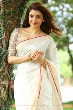 Check Out Exclusive Unseen HD Photos of Heroine Kajal Aggarwal in Half Saree in Nene Raju Nene Mantri   Tollywood Actress Wallpapers