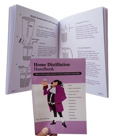 This is the printed english version of The Home Distillation Handbook. The Home Distillation Handbook is a well described informational guide on how to make alcoholic spirits. Good Books, This Book, Alcohol, English, Writing, Prints, How To Make, Detail, Rubbing Alcohol