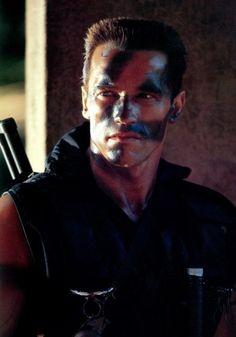 Arnold Schwarzenegger John Matrix.. I had a major crush on Mr. Schwarzenegger he was soooo fine!!!!