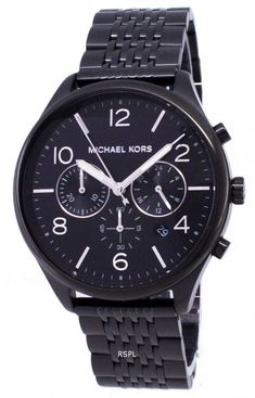 dd4ef9ad04e7 Michael Kors Merrick MK8640 Chronograph Quartz Men s Watch. Stainless Steel  ...