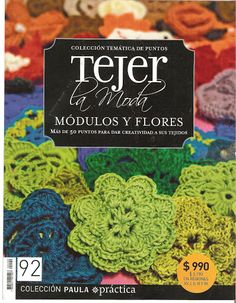 "BOOK: ""Tejer modulos y Flores"" crochet book in Spanish. Motifs with diagrams Crochet Diagram, Crochet Motif, Irish Crochet, Diy Crochet, Crochet Patterns, Moda Crochet, Simple Crochet, Thread Crochet, Flower Patterns"