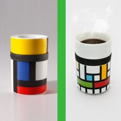Lattice and Mondri Mugs, designer Frank Kerdil