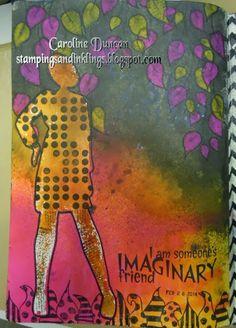 Dylusions art journal by Caroline Duncan ~ www.stampingsandinklings.blogspot.com