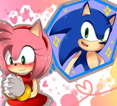 Amy thinking about Sonic. So cute! Sonic The Hedgehog, Silver The Hedgehog, Shadow The Hedgehog, Sonic And Amy, Sonic And Shadow, Amy Rose, Fluttershy, Rouge The Bat, Pokemon