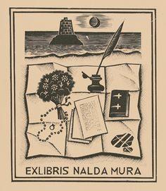 Italo Zetti - Bookplate for Nalda Mura