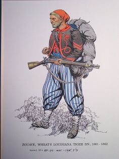 ACW- Confederate: Reb Infantry - Zouave - Louisiana Tiger Battalion, by George Woodhouse.