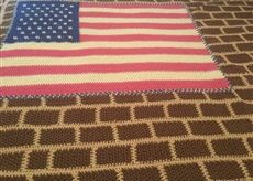 Flag on the wall afghan by FaishasCozyBlankets on Etsy