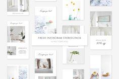 Fresh Instagram Stories Templates on @creativemarket