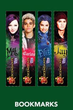 Bookmarks - Free Disney Descendants Printables & Activities | SKGaleana