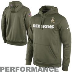 Nike Washington Redskins Salute to Service KO Pullover Performance Hoodie - Olive