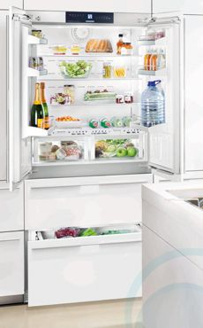 Mi ideal french door fridge/freezer that is built into the cabinetry, so it sits flush with everything - a steal for only $10,000! lol