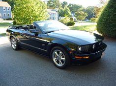 Triple Black Convertible Mustang