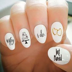 Looks great on toe nails too! Easy to apply water transfer nail decals! Wedding Nails For Bride, Bride Nails, Wedding Nails Design, Wedding Toe Nails, Wedding Pedicure, Glitter Wedding, Wedding Blog, Fall Wedding, Wedding Ideas