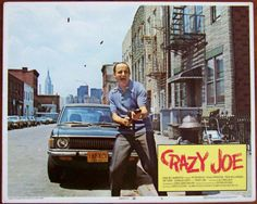 """Crazy Joe Lobby Card #5, 1974, Columbia Pictures, Condition VF-: pinholes, size 11 x 14 inches, stars Peter Boyle, Paula Prentiss, Fred """"The Hammer"""" Williamson, Rip Torn, Charles Cioffi, and Eli Wallach. Directed by Carlo Lizzani. $7"""