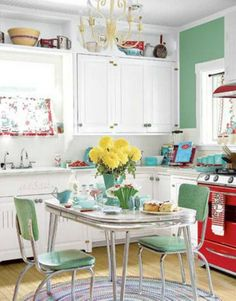 kitchen table small lights 34 best tables for spaces images new 1940s vintage decor 50s style kitchens