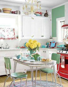 Small Kitchen Table Home Decor Interior Vintage Design