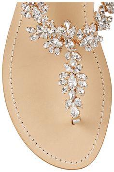MusaSwarovski crystal-embellished metallic leather sandals $485