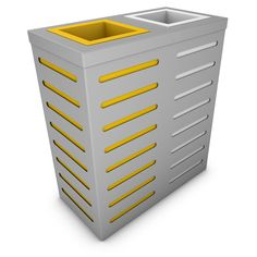 AURIGA Sorting Bin, 2 Compartments for Recyclables, Light Gray