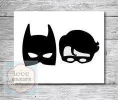 DIGITAL FILE Printable Batman and Robin by LoveCreateCelebrate