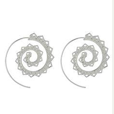 Boho Styled Silver Plated Earrings