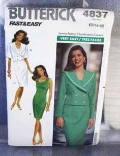 1990 Uncut  Fast and Easy Butterick Pattern by lovelylovepatterns