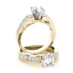 Forever One colorless D-F moissanite center with genuine diamond sides. Solitaire Rings, Diamond Rings, Diamond Jewelry, Gents Ring, Filigree Engagement Ring, Wedding Rings Simple, Dream Ring, Ring Designs, Wwe