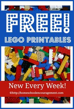 Free LEGO Printables Weekly for LEGO learning