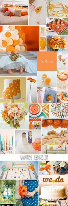 orange wedding inspiration and ideas Orange Wedding Themes, Tangerine Wedding, Red Wedding, Romantic Wedding Colors, Perfect Wedding, Deco Orange, Wedding Inspiration, Color Inspiration, Wedding Ideas