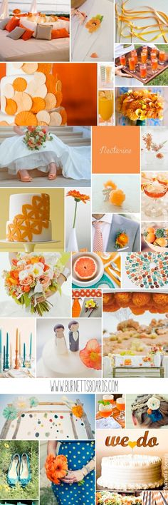 orange wedding inspiration and ideas http://burnettsboards.com/category/oranges/