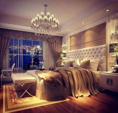 Oohh I'd love too redo bedroom like this! neutral colors. headboard