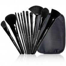 Best brush set ever! It's from e.l.f. and normally costs $30 for the set but I got it for $3 as part of a promo...they are super-soft and come in a nice water-resistant case. Did I mention how soft they are? Very luxe for the price! : )