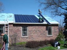 Installation of Solar Metal Roofing - standing seam metal roof with thin film solar panels