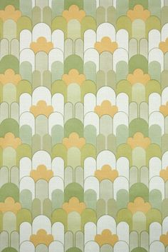 This roll of wallpaper is an authentic, old stock roll from the It is a european roll, and will cover approximately 50 sq. Geometric Vintage Wallpaper, Retro Wallpaper, Retro Styles, Patterns In Nature, Retro Fashion, 1970s, Homes, Prints, Color
