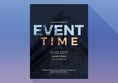 Event Time Photoshop Flyer Template by M K GRAPHICS on @creativemarket