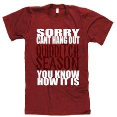 Quidditch season shirt. Yes!