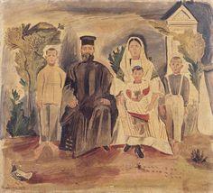 Τσαρούχης Γιάννης-Οικογένεια, 1925 – Yannis Tsarouchis [1910-1989] | paletaart – Χρώμα & Φώς