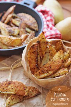 Patatas al horno con romero , Patatas al horno con ajo y romero. Estas patatas gajo al horno os van a encantar. Receta fácil paso a paso de patatas al horno.