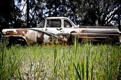 1957 Ford V8 Mainline coupe utility. North East Victoria, Australia.