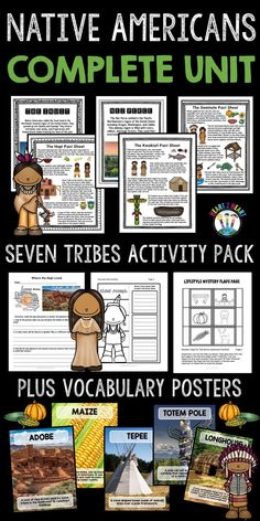 This COMPLETE Native Americans Resource has everything and more to learn about seven different Native American tribes and NOW includes the Iroquois people. It is PACKED full of reading passages, vocabulary, and fun student activities--NOW with two-sided tri-fold organizers that work perfectly in INBs--a total of 145 pages in all!