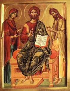 Deisis Religious Pictures, Religious Icons, Religious Art, Christ Pantocrator, Greek Icons, Christian Religions, Biblical Verses, Best Icons, Byzantine Art