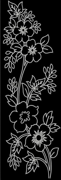 Stitch this lovely Mexican folk art inspired design individ Hand Embroidery Stitches, Hand Embroidery Designs, Ribbon Embroidery, Beading Patterns, Flower Patterns, Fabric Painting, Flower Art, Coloring Pages, Stencils