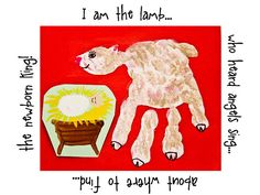 I am the Lamb:: Planet of the Apels: Handprint Nativity Animals