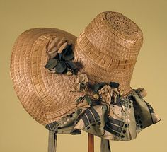 Fancy Straw Bonnet, America, 1820s