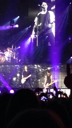 14.6.15 Calum, Luke, Ash & Michael on stage, for their 29th show on tour, at Wembley, London. Night 3