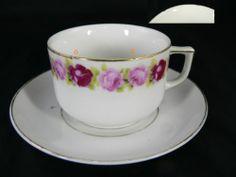 Kaffeegedeck mit Rosendekor 2tlg. Bitte lesen!!   eBay