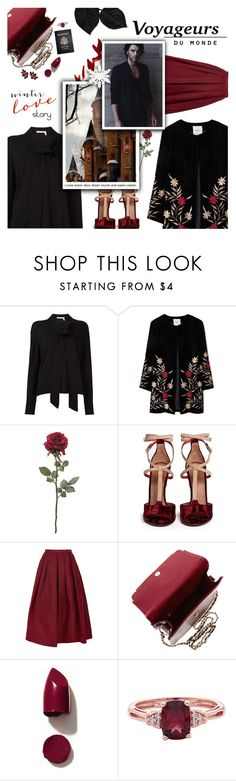 """""""Winter Wishes"""" by r-maggie ❤ liked on Polyvore featuring Chloé, MANGO, Givenchy, TIBI, Passport and NARS Cosmetics"""